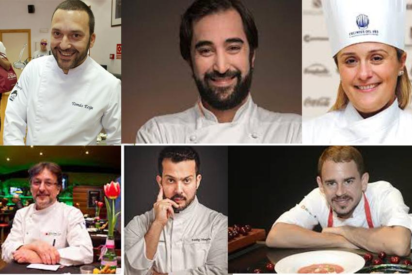 Tomás Écija, David Muñoz, Estrella Carrillo, José Ginés Nicolás, Freddy Salmerón y Julio Velandrino.