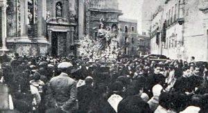 La Virgen de los Peligros, en Belluga en 1929.