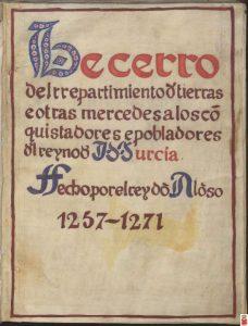 Libro del Repartimiento de tierras.
