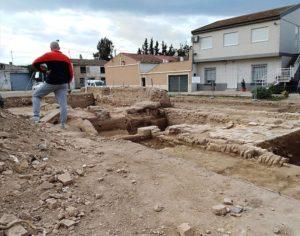 Excavaciones en la almunia de Monteagudo.
