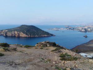 Vista de la isla de Adentro, desde lo alto del cerro.