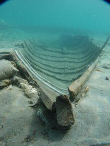 Casco del barco fenicio de La Isla. / ARQUA