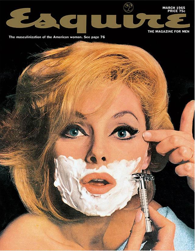 Portada de la revista Squire (que significa «caballero») en 1965, sobre la «masculinización» de la mujer